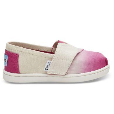 Dětské krémovo-růžové TOMS Dye Seasonal Classics Tiny Alpargatas