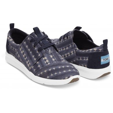 Dámské modré tenisky TOMS Batik Stripe Del Rey