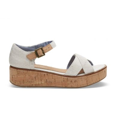 Dámské krémové sandálky na platformě TOMS Yarn Harper