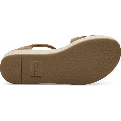Dámské hnědé sandálky na platformě TOMS Suede Harper
