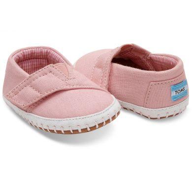Dětské růžové TOMS Tiny Crib Alpargatas