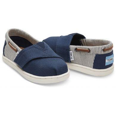 Dětské modré TOMS Tiny Stripes Biminis