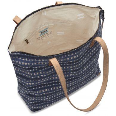 Modrobílá tote taška TOMS Cosmopolitan