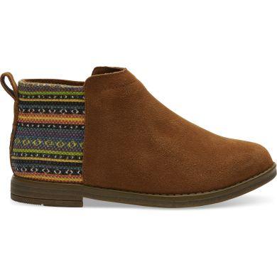Dětské hnědo-barevné kotníkové boty TOMS Youth Deia