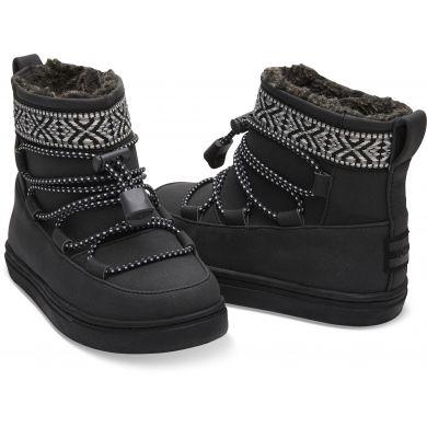 Dětské černé kotníkové boty TOMS Tiny Alpine