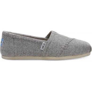 Dámské šedé TOMS Wool Seasonal Classics Alpargatas