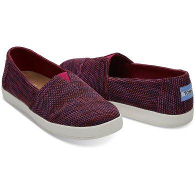 Dámské tmavě fialové slip-ony TOMS Knit Avalon