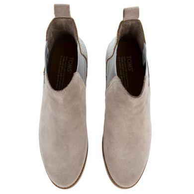 Dámské béžovo-stříbrné kotníkové boty TOMS Ella