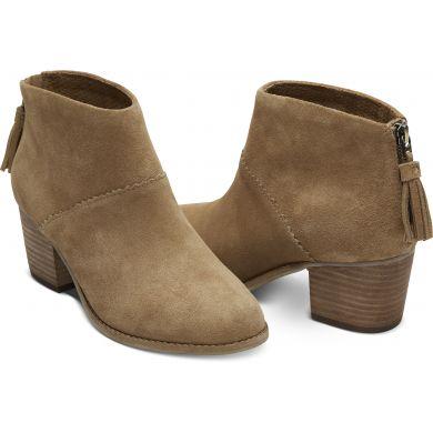Dámské hnědé kotníkové boty TOMS Leila