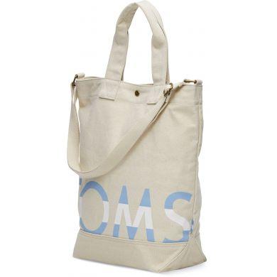 Krémová tote taška TOMS Camo Compass