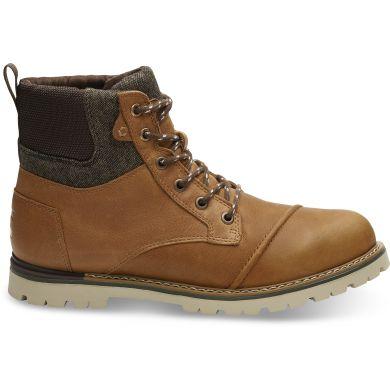 Pánské hnědé kotníkové boty TOMS Leather Ashland