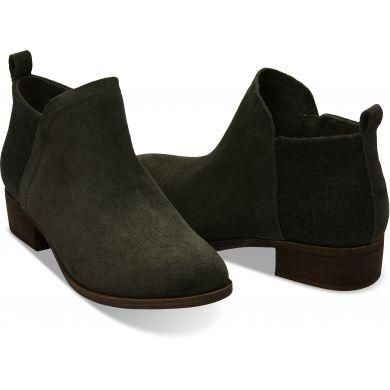 Dámské zelené kotníkové boty TOMS Deia