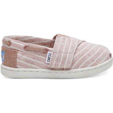 Dětské růžové TOMS Tiny Stripe Biminis