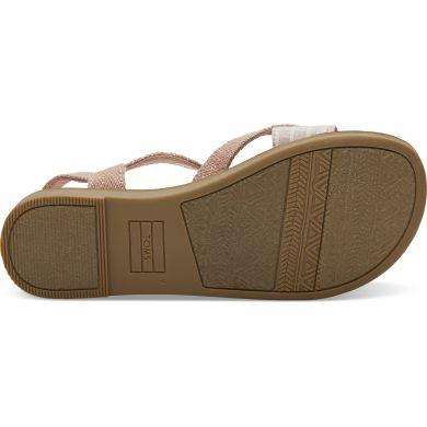 Dětské růžové sandálky TOMS Youth Metallic Lexie