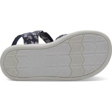Dětské modré sandálky TOMS Daisy Tiny Strappy