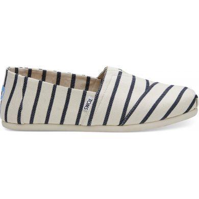 Pánské bílo-modré TOMS Stripe Venice Collection Alpargata