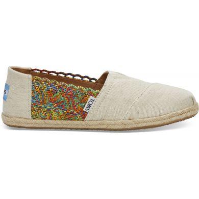 Dámské barevné TOMS Crochet Oxford Alpargatas