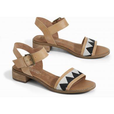 Dámské hnědé sandálky TOMS Leather Tribal Camilia