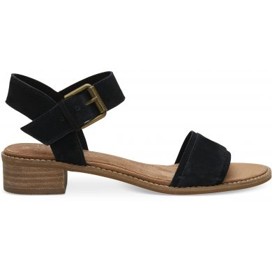 Dámské černé sandálky TOMS Suede Camilia