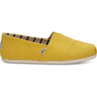 Pánské žluté TOMS Lemon Venice Collection Alpargata