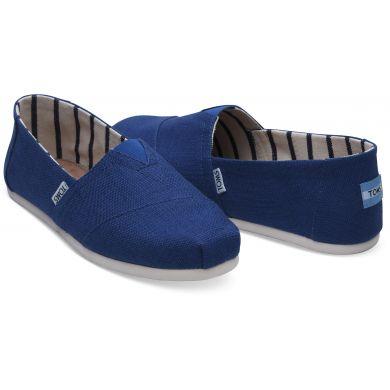 Pánské modré TOMS Classic Venice Collection Alpargata