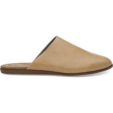 Dámské hnědé pantofle TOMS Leather Jutti Mule