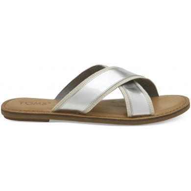 Dámské stříbrné sandály TOMS Specchio Viv