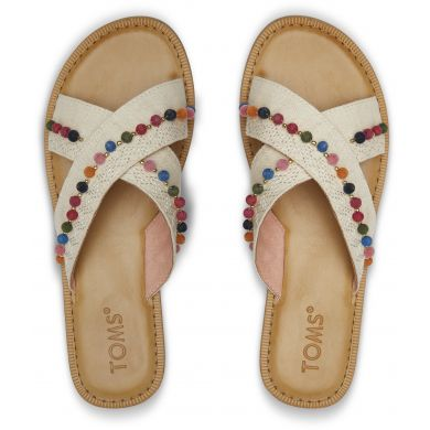 Dámské krémové sandály TOMS Hemp Viv