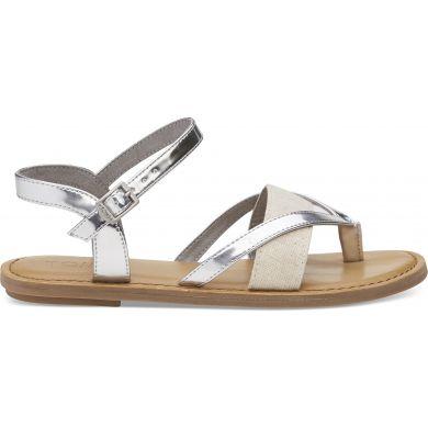 Dámské stříbrné sandálky TOMS Specchio Oxford Lexie