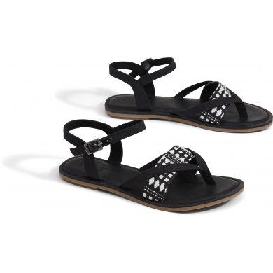 Dámské černé sandálky TOMS Canvas Tribal Lexie