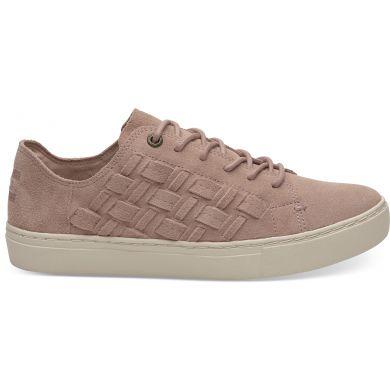 Dámské růžové tenisky TOMS Suede Basketweave Lenox