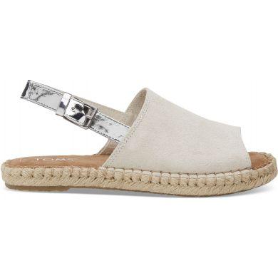 Dámské krémové sandály TOMS Suede Clara