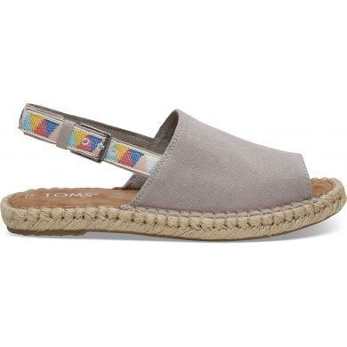 Dámské šedé sandály TOMS Tribal Oxford Clara