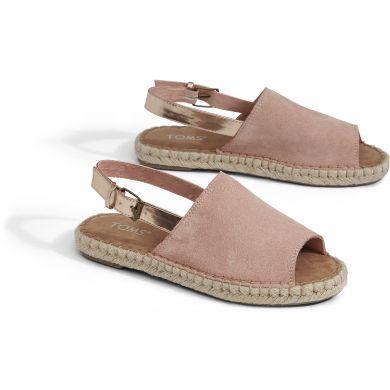 Dámské růžové sandály TOMS Suede Clara