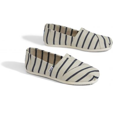 Dámské bílo-modré TOMS Stripes Venice Collection Alpargata