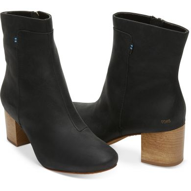 Dámské černé kotníkové boty TOMS Evie