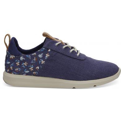 Dámské tmavě-modré tenisky TOMS Floral Cabrillo