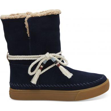 Dámské modré vysoké boty TOMS Vista