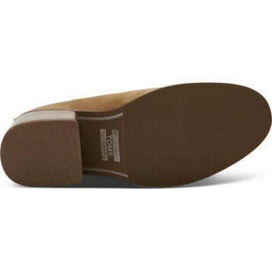 Dámské světle hnědé boty na podpatku TOMS Leather Esme