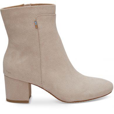 Dámské růžové kotníkové boty na podpatku TOMS Evie
