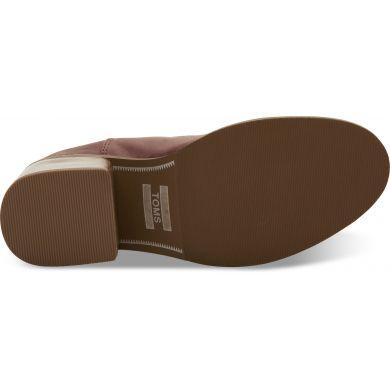 Dámské hnědé boty na podpatku TOMS Leather Esme