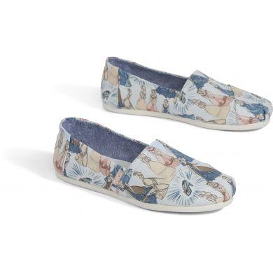 Dámske modré TOMS Cinderella Alpargata