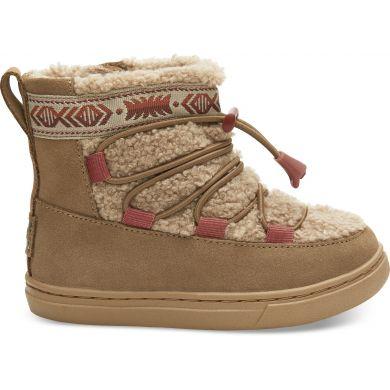Dětské hnědé kotníkové boty TOMS Tiny Alpine
