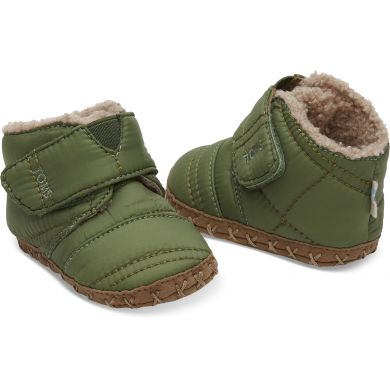 Dětské zelené botičky TOMS Quilted Tiny Cuna