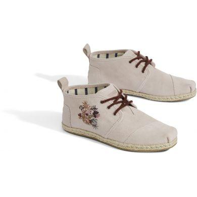 Dámské růžové kotníkové boty TOMS Embroidery Botas