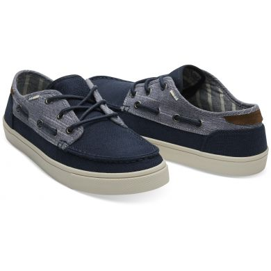 Pánské tmavě modré TOMS Chambray Mix Dorado Sneakers