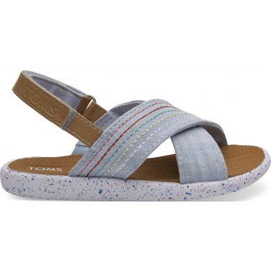 Dětské světle modré sandálky TOMS Tiny Viv Sandals