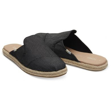 Dámské černé pantofle TOMS Black Denim Nova Espadrile