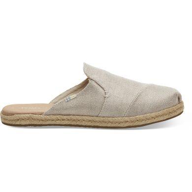 Dámské béžové pantofle TOMS Rose Gold Metallic Nova Espadrile
