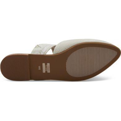 Dámské béžové pantofle TOMS Off White Nubuck Jutti Mule